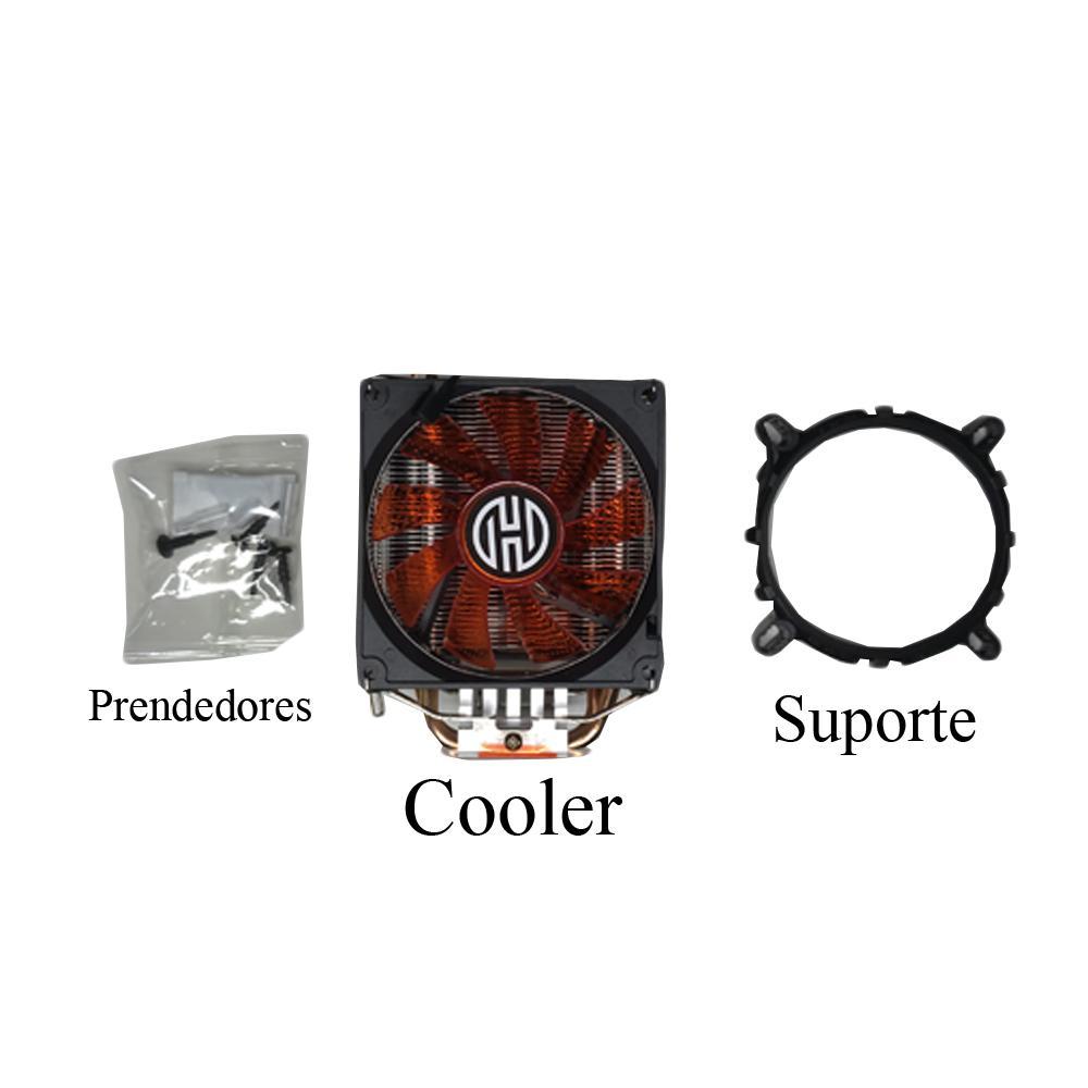 Cooler para Processador Hoopson, LED Vermelho, AMD/Intel - CL-190