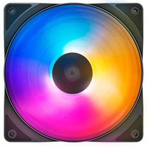 Fan Cooler Deepcool 120x25mm Tres Cores, Azul, Roxo e Amarelo, - RF120FS