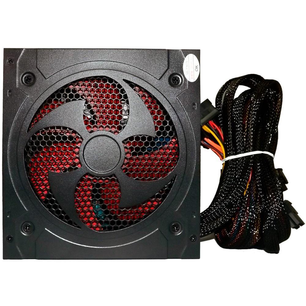 Fonte ATX Bluecase 500W, PFC Ativo, Sem caixa e Sem cabo - BLU500PFC