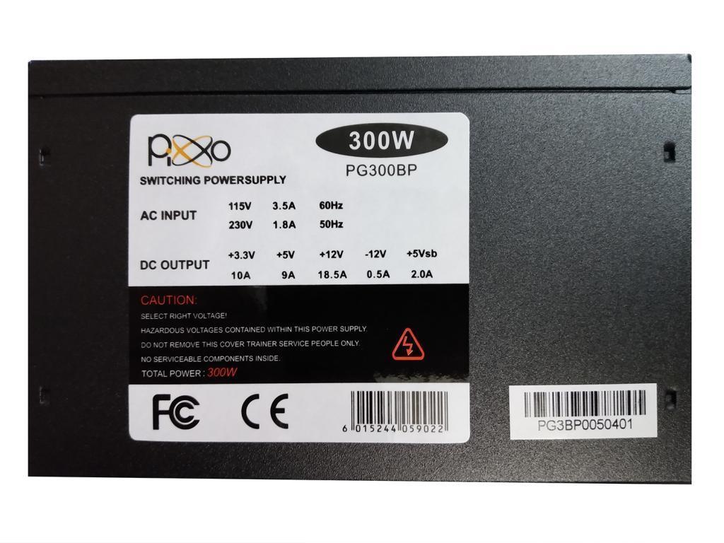 Fonte ATX Pixxo 300W  - PG-300BP