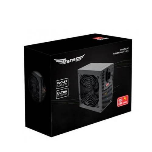 Fonte ATX Tronos 750W REAL TRS/7400-B 24 PINOS BOX