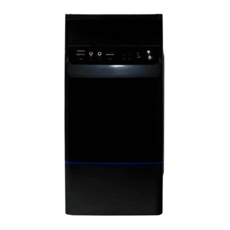 Gabinete Bluecase BG-2315B Preto/Azul + Fonte 230w. - BG2315BGCASE
