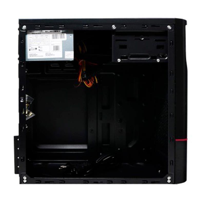 Gabinete Bluecase BG-2315R Preto/Vermelho + Fonte 230w - BG2315RGCASE