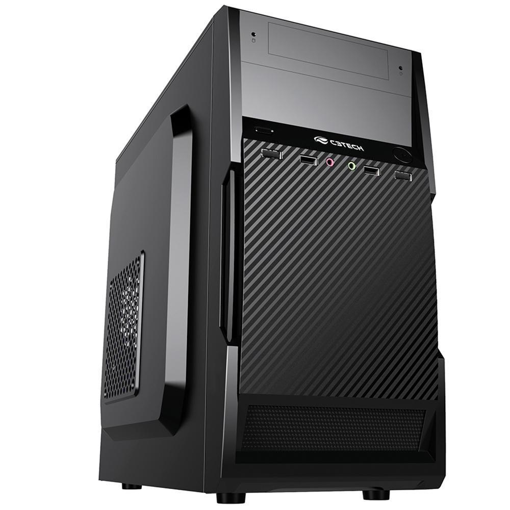 Gabinete C3Tech Micro-ATX MT-25V2BK C/Fonte 200W
