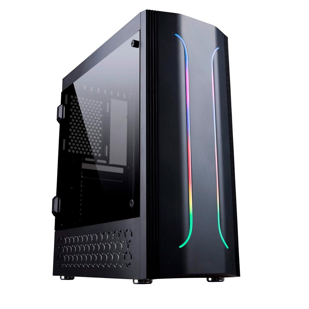 Gabinete Gamer Bluecase BG-011 RGB, Sem Fonte.