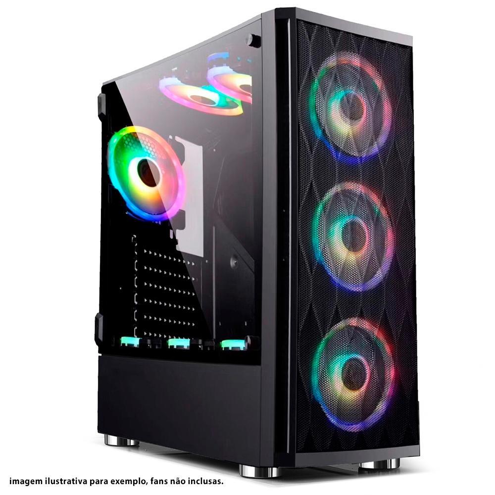 Gabinete Gamer Bluecase BG-025, Lateral em Vidro Temperado, USB 3.0.
