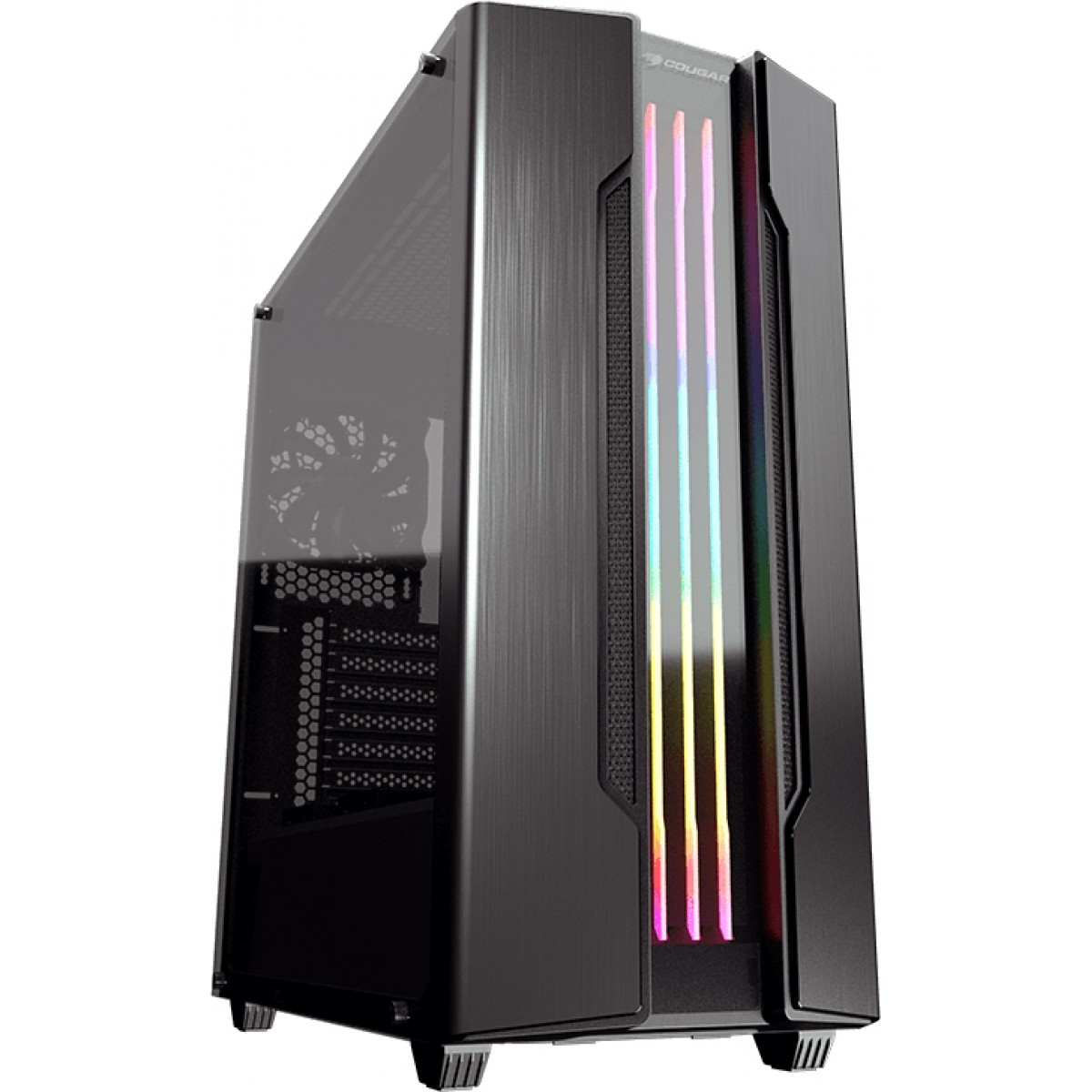 Gabinete Gamer Cougar Gemini S Iron Grey, Mid Tower,Vidro Temperado, Black - 385BMB0-0001