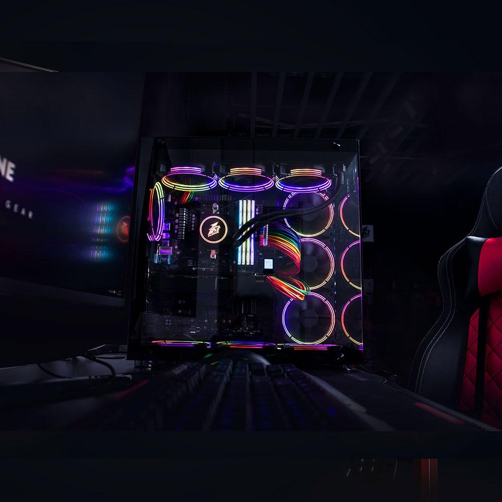 Gabinete Gamer 1stPlayer Gaming Case SP8 Black   AquiTem