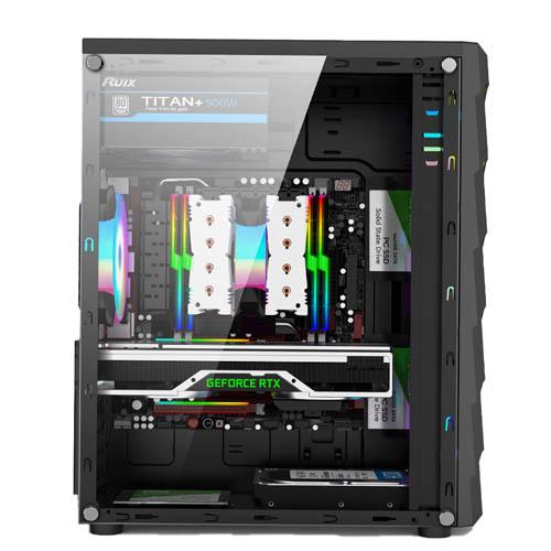 Gabinete Gamer Hayom C/ Led RGB Frontal- GB1711