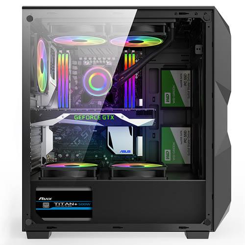 Gabinete Gamer Hayom Com 3 Fans RGB - GB1710