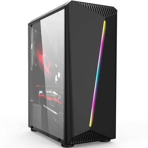 Gabinete Gamer Hayom, Preto c/ Led RGB - GB1700