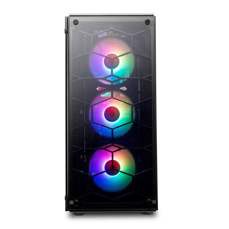 Gabinete Gamer Redragon Wheel Jack Preto C/ 4 FANS RGB CONTROLAVEIS-  GC-606BK-RGB
