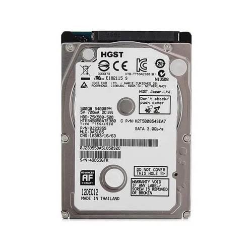 HD Hitachi 500GB Sata2 5400rpm 7mm Notebook - PN HTS545050A7E380