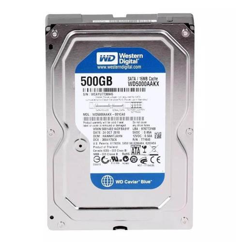 HD Western Digital WD Blue 500GB 7200RPM - WD5000AZLX