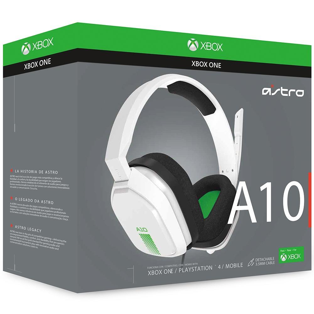 Headset ASTRO Gaming A10 para PlayStation, Nintendo Switch, PC e Xbox - Branco/Verde - 939-001854