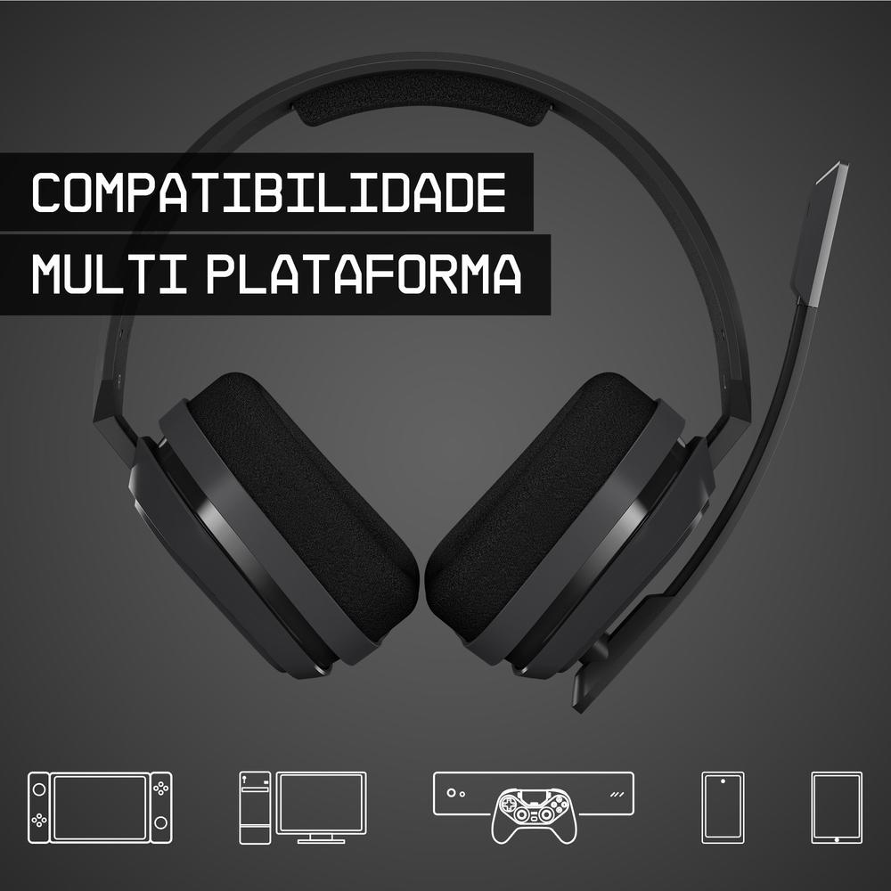 Headset ASTRO Gaming A10 para PlayStation, Nintendo Switch, PC e Xbox - Preto/Azul - 939-001838