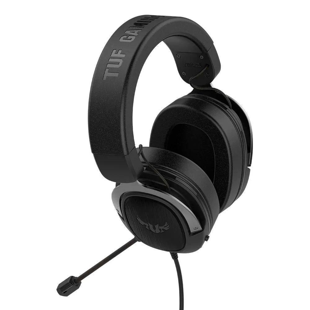 Headset Asus TUF Gaming H3, Gun Metal, 7.1 Surround, Graves Profundos.