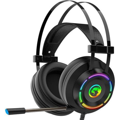 Headset Gamer Marvo Scorpion, 7.1 Surround, USB, Rainbow, Preto, HG9062