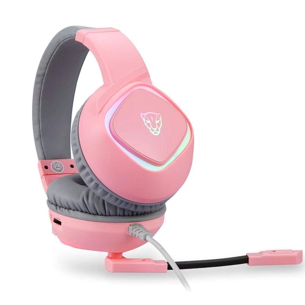 Headset Gamer Motospeed G750, RGB, 7.1 Virtual, Drivers 40mm, USB, Rosa - FMSHS0092RSA