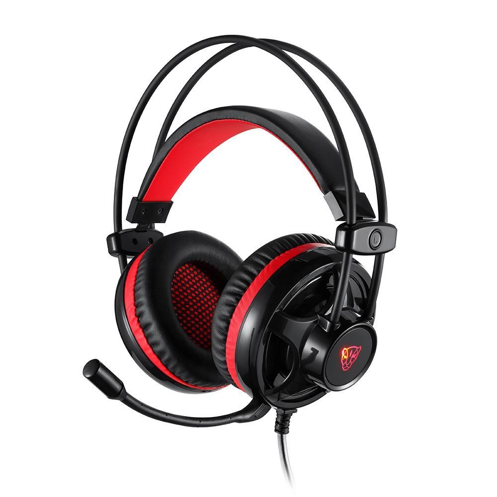 Headset Gamer Motospeed H11, Led Vermelho 5.1, Drivers 40mm, P2 , Preto - FMSHS0052PTO
