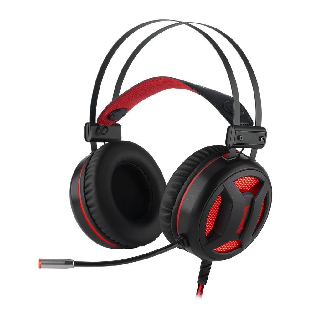 Headset Gamer Redragon Minos H210 Surround 7.1 USB Preto/Vermelho