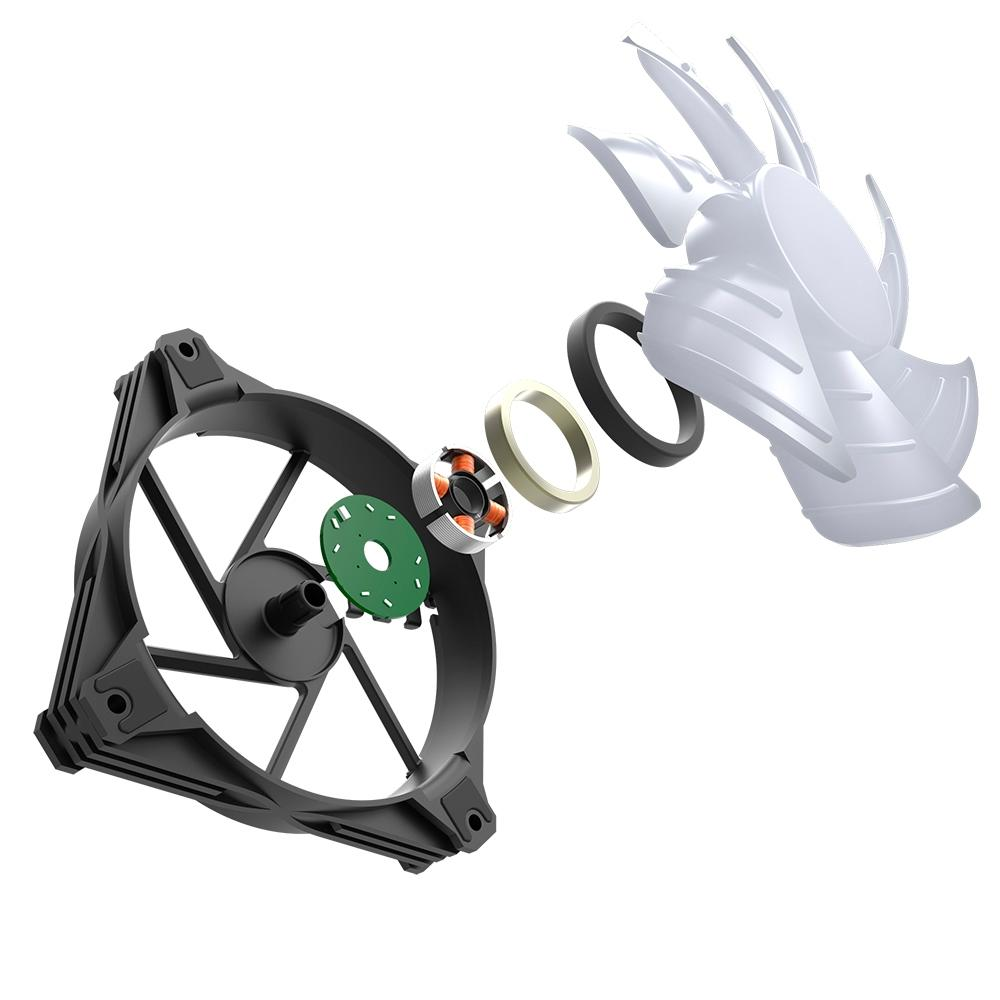 Kit 3x Cooler Fan Motospeed Hyrax ARGB, 120mm, para Gabinete, Preto - HCL603B