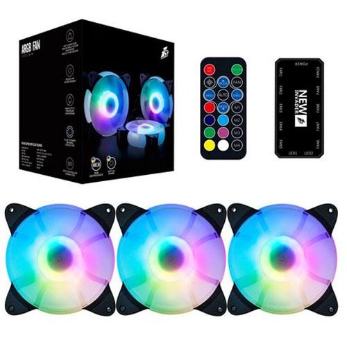 Kit Cooler Fan FirstPlayer ARGB com 3 un + controller CC - CC