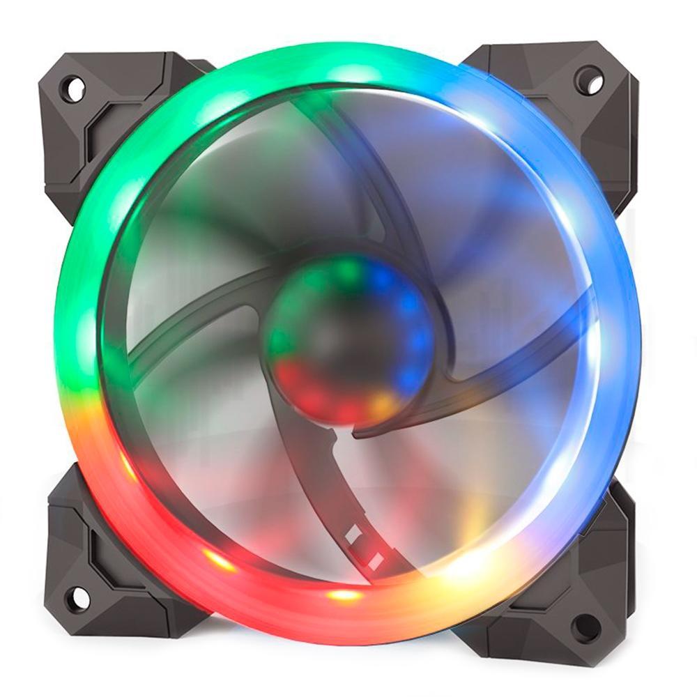 Kit Cooler Fan RGB Controlável Redragon com 3 Unidades + Controlador - GC-F008