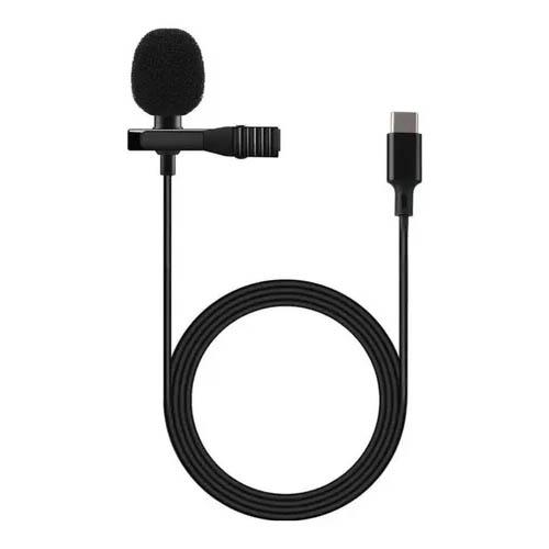 Microfone Lapela P/ PC, Celular, Notebook, Entrada Type-C