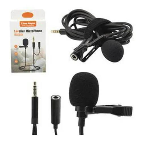 Microfone de Lapela P/ PC, Celular, Notebook, P2 com saída P3