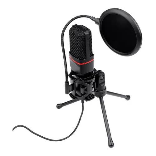 Microfone Gamer Streamer Redragon Seyfert C/ Tripé, 3.5MM, Black, GM100