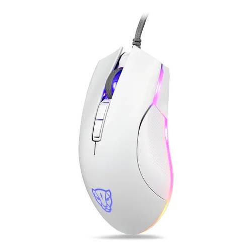 Mouse Gamer Motospeed V70 Essential Edition, RGB, 7 Botões, 6400DPI, Branco
