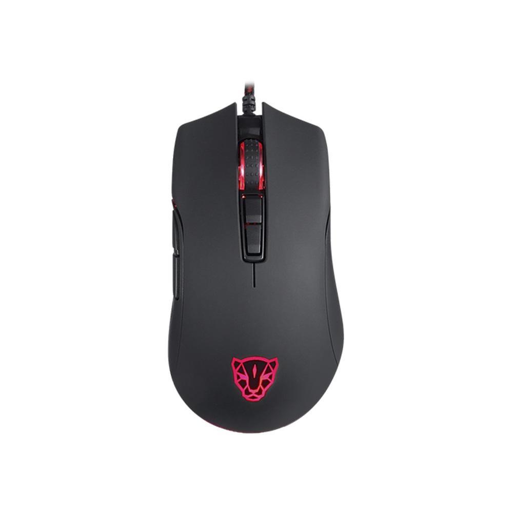 Mouse Gamer Motospeed V70 Essential Edition, RGB, 7 Botões, 6400DPI, Preto - FMSMS007PT