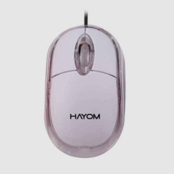 Mouse Hayom Office, USB, Básico, Branco - MU2914