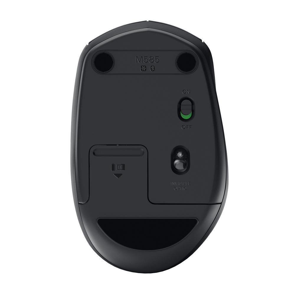 Mouse Logitech M585 Sem Fio Multi-Device Tecnologia Flow Unifying Preto 1000DPI - 910-005012