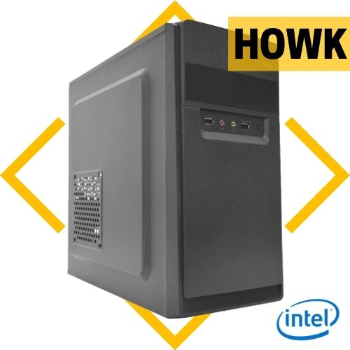 Computador Howk Intel i3 3220, H61, 4GB DDR3, SSD 120GB, Fonte 200W, Gabinete - Sem S.O
