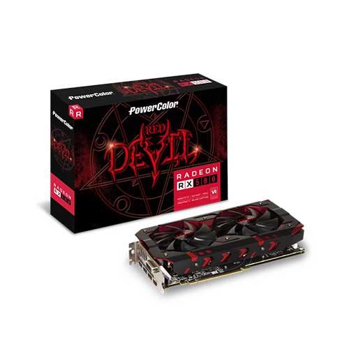 Placa De Vídeo Powercolor Radeon RX 580 8GB GDD5, Red Devil, 256Bits - AXRX580 8GBD5-3DH/OC