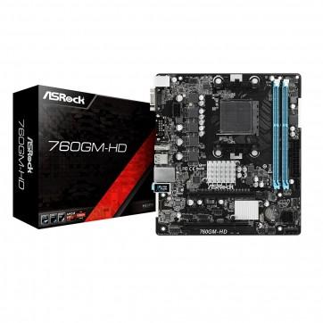 Placa-Mãe AsRock P/ AM3+, DDR3, VGA e HDMI, mATX - 760GM-HD