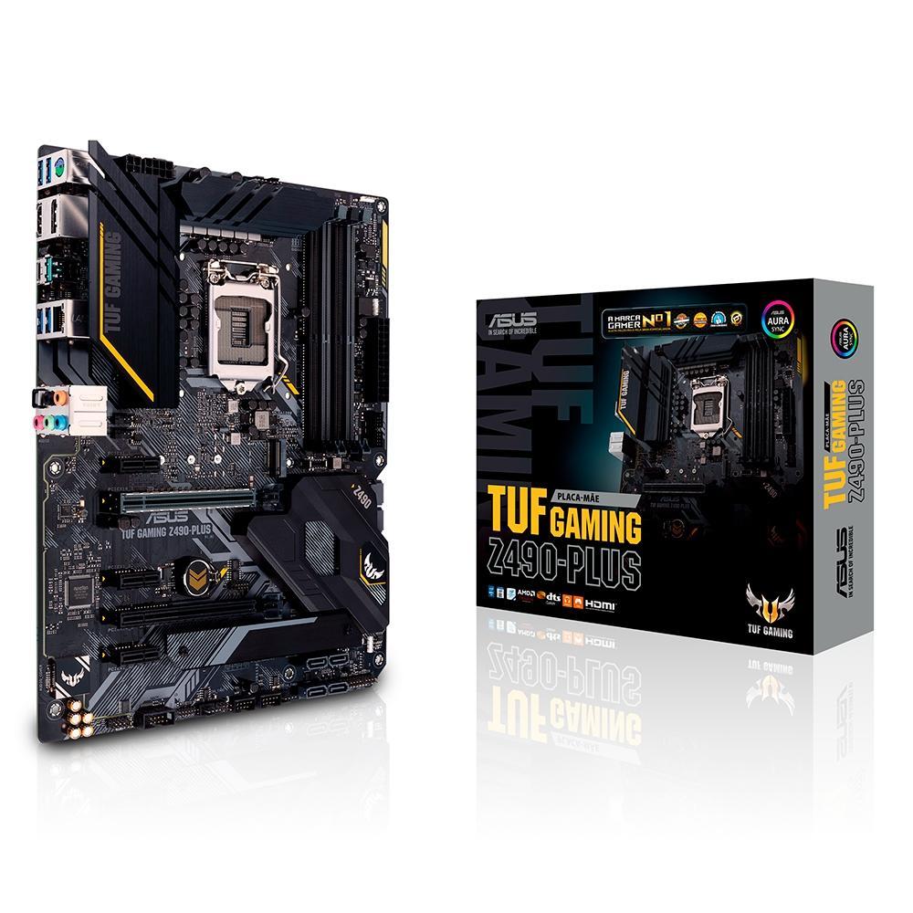 Placa-Mãe Asus TUF Gaming Z490-Plus, Intel LGA 1200, ATX, DDR4