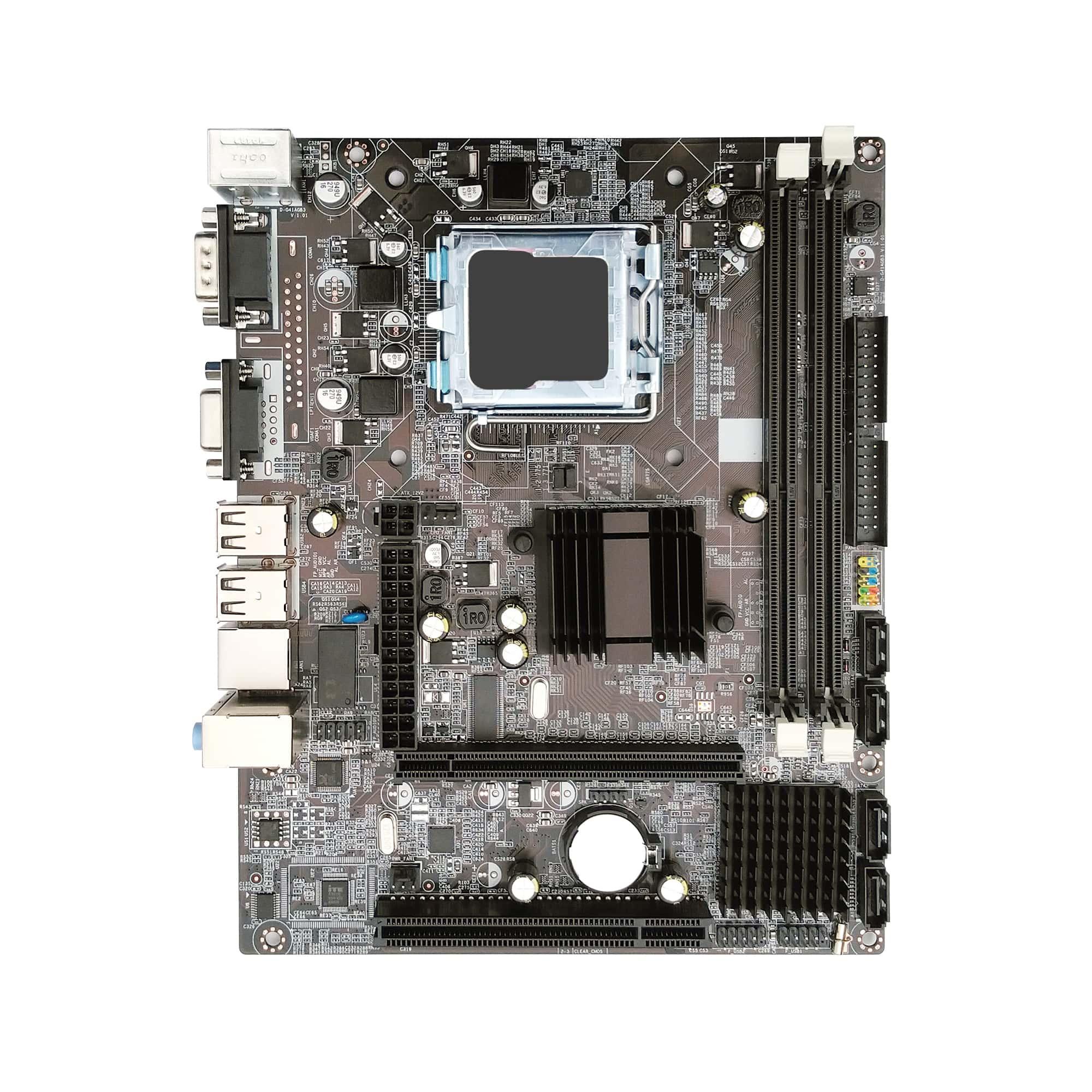 Placa Mãe Bluecase BMBG41-D BOX DDR3 775P - 8GB / VGA