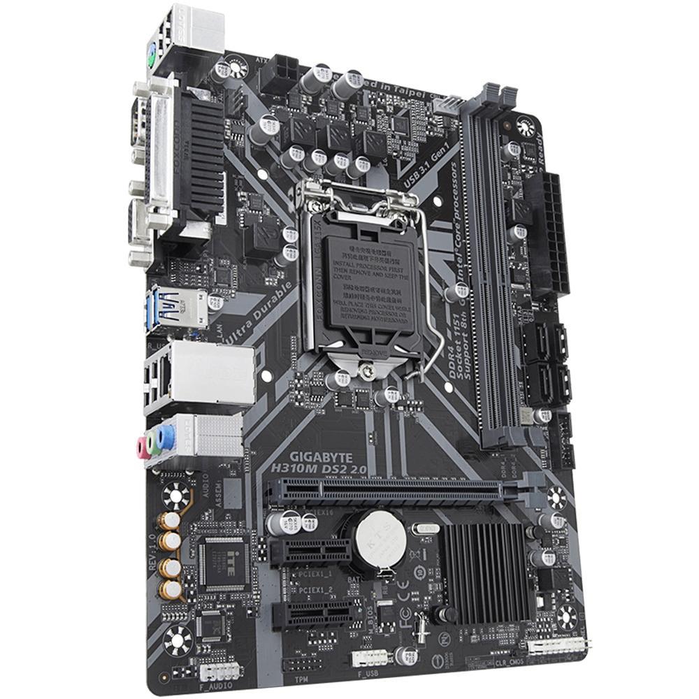 Placa-Mãe Gigabyte H310M DS2 2.0, Intel LGA 1151, mATX, DDR4