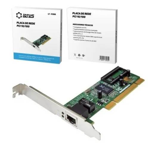 Placa PCI de Rede 10/100, Lotus - LT-P266