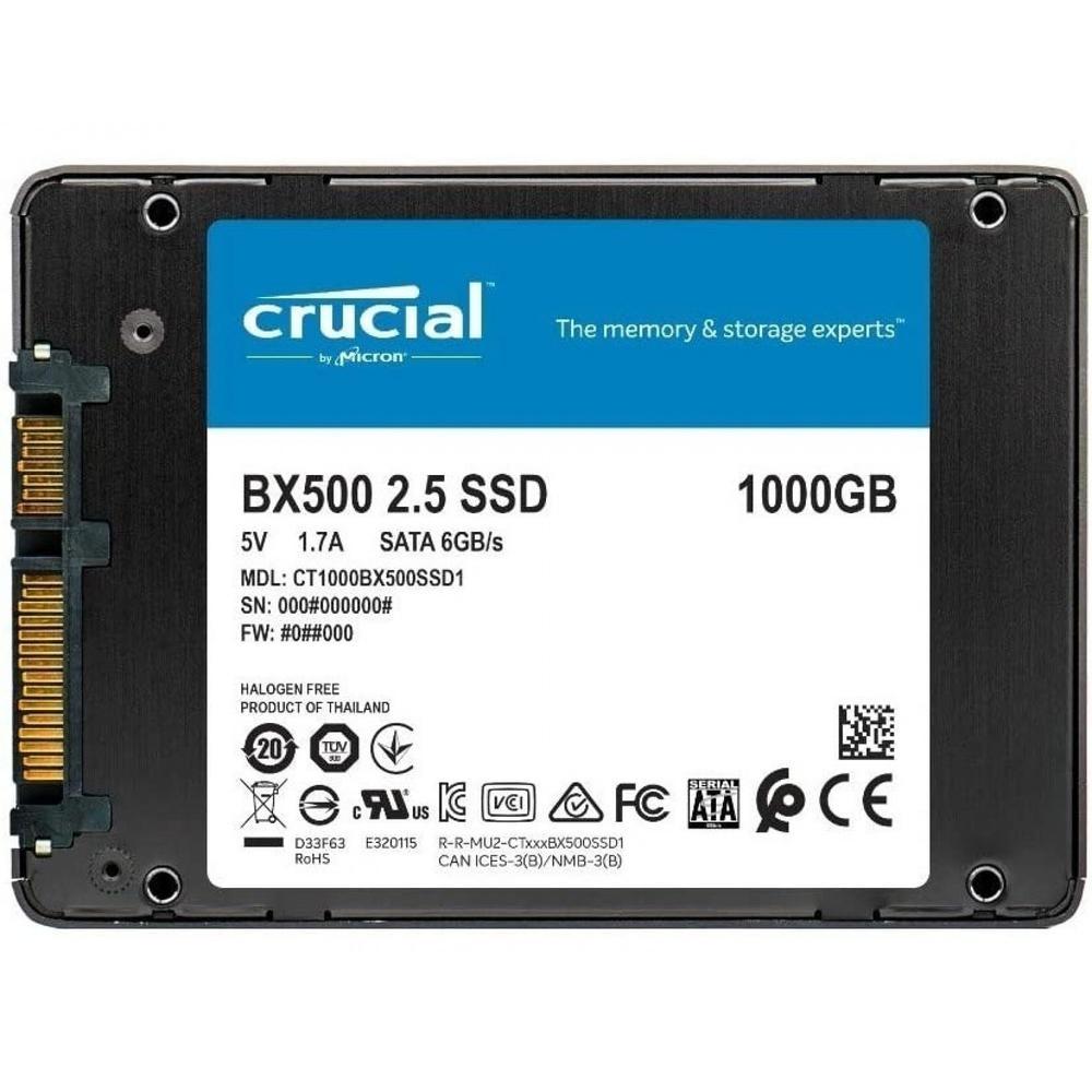 "SSD Crucial 1TB BX500, 2,5"" - CT1000BC500SSD1"