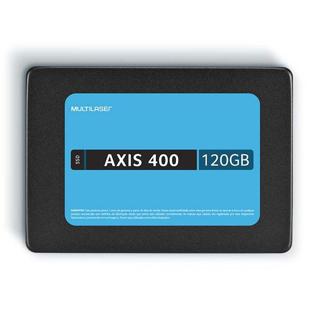 SSD Multilaser 120GB, AXIS 400, Gravação 400 Mb/S - SS101