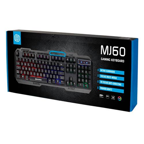 Teclado Gamer MJ60, Semi-mecanico, RGB - MJ60