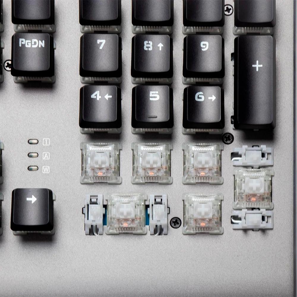 Teclado Mecânico Gamer Fortrek Cruiser, RGB, Switch KRGD Crystal, ABNT2, Dark Grey - 70549