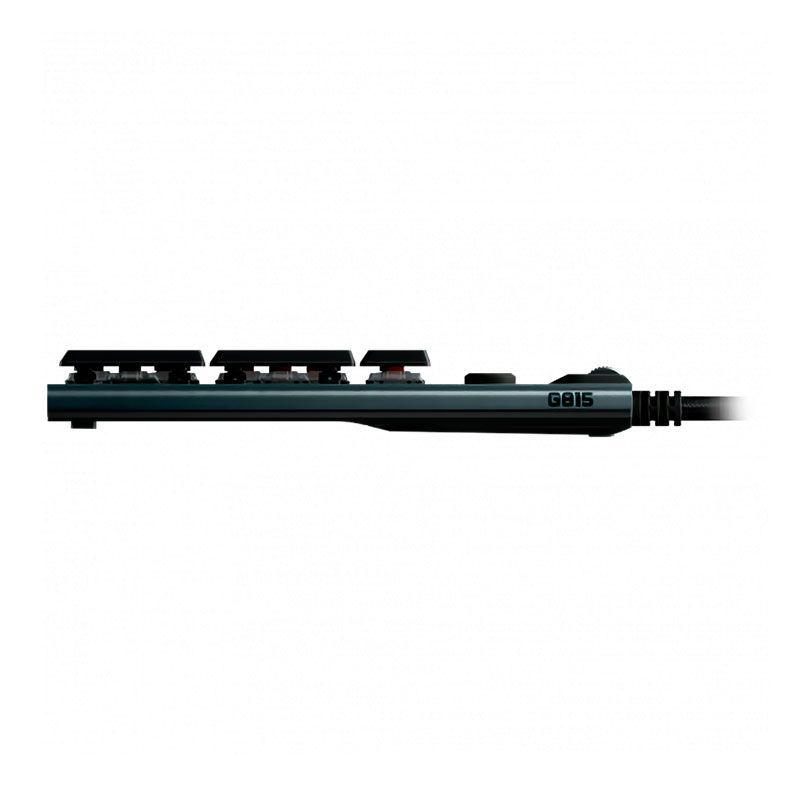 Teclado Mecânico Gamer Logitech G815, Design ultrafino, RGB, Switch GL Tactile Marrom, US - 920-008984