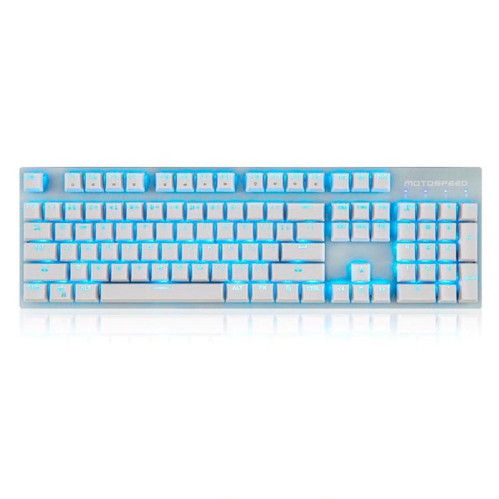 Teclado Sem Fio Mecânico Gamer Motospeed GK89, LED Azul, Bluetooth, Switch Outemu Red, US, Branco - FMSTC0033VEM