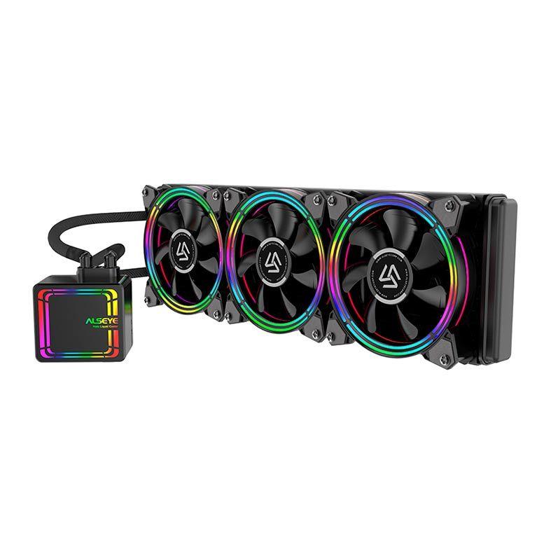 Water Cooler Alseye Halo H360 360mm Preto Rainbow