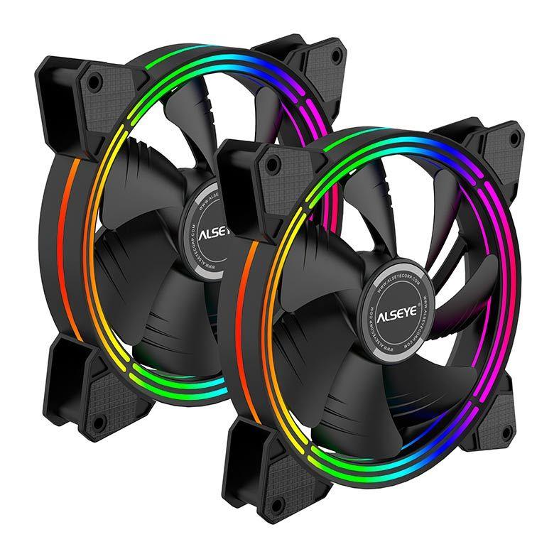 Water Cooler Alseye Halo Preto Rainbow 280mm - H280